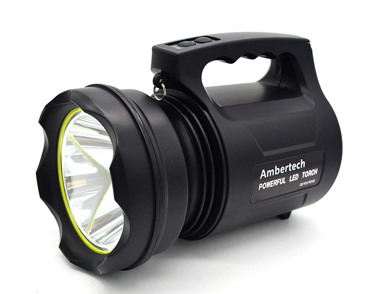 Ambertech 10000 Lumens Lanterne Robuste Torche Led Puissante Lampe De Poche Rechargeable Projecteur Exterieur Su Lampe De Poche Torche Led Projecteur Exterieur