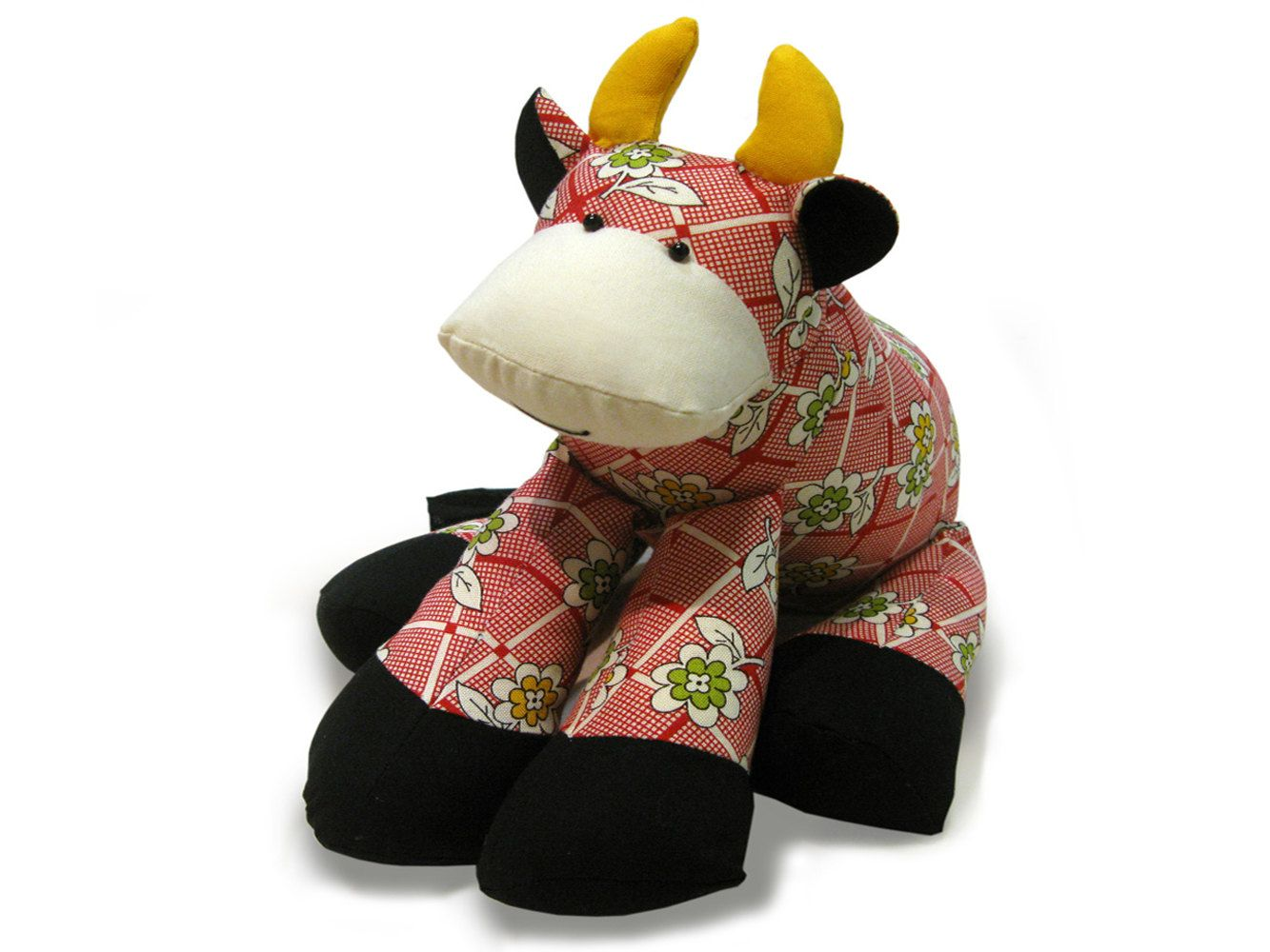 Cow soft toy pattern pdf by funkyfriendsfactory on etsy toys patty the cow sewing pattern jeuxipadfo Images