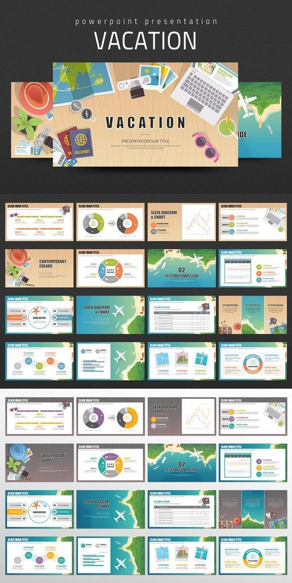 vacation powerpoint icon set pinterest vacation template and
