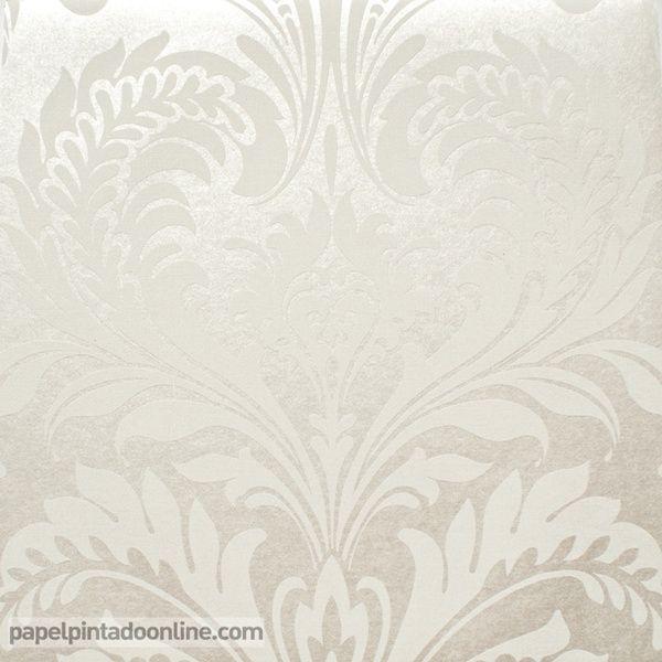 Papel pintado milan co00101 medallones metalizados en for Papel pintado tonos beige