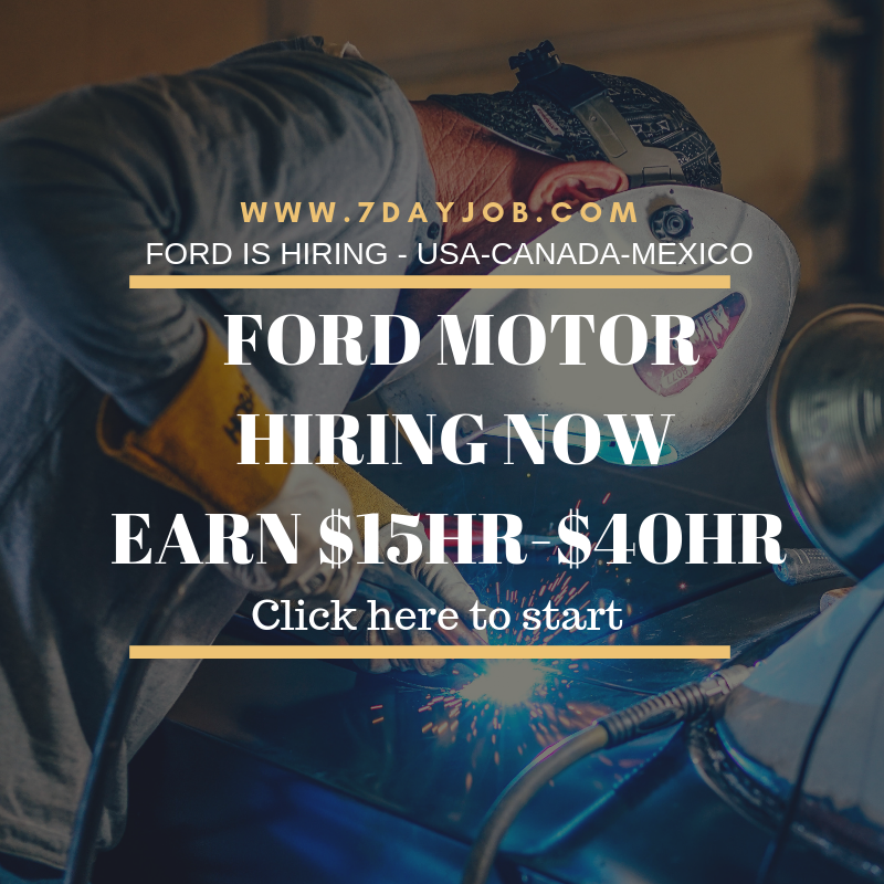 Ford Motor Hiring Now Chicago Jobs Hiring Now Job Career