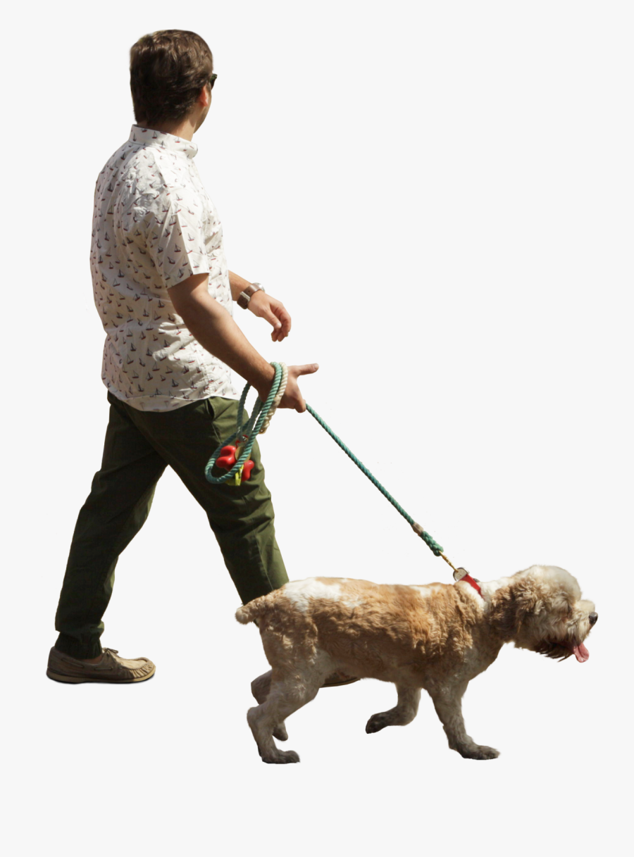 Another Hobby Is Walking My Dog Man And Dog People Walking Png Dog Walking