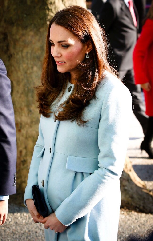 The Duchess of Cambridge at the Kensington Aldridge Academy which she officially opened - The Duchess is due to give birth to her second child on the 20th April and will miss Prince William's upcoming trip to China. - 19th January 2015