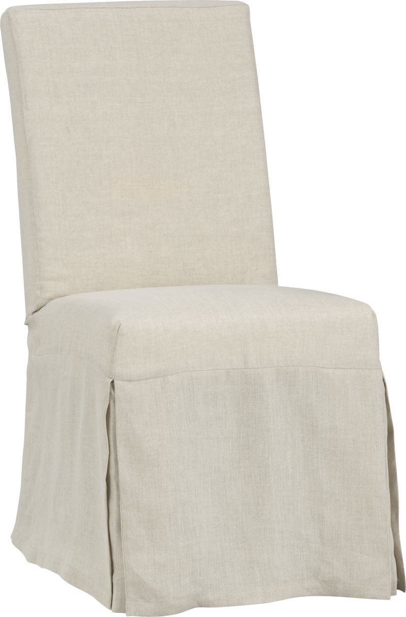 Barrel Chair Slipcover Slip Linen Slipcovered Dining Chair Crate And Barrel In 2019