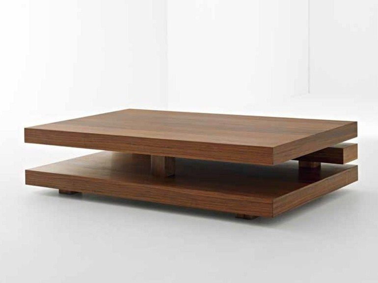 Low Rectangular Wooden Coffee Table Penrose Collection By Passoni Nature Design Ap Studio Wooden Coffee Table Coffee Table Coffee Table Design