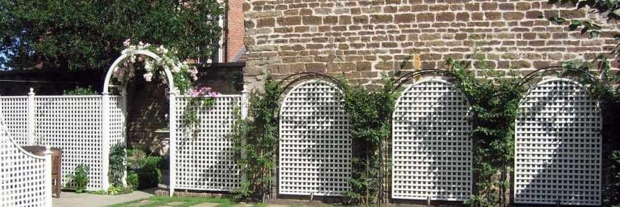 Painted Classic Bespoke Trellis Panels Wooden Fence Trellis
