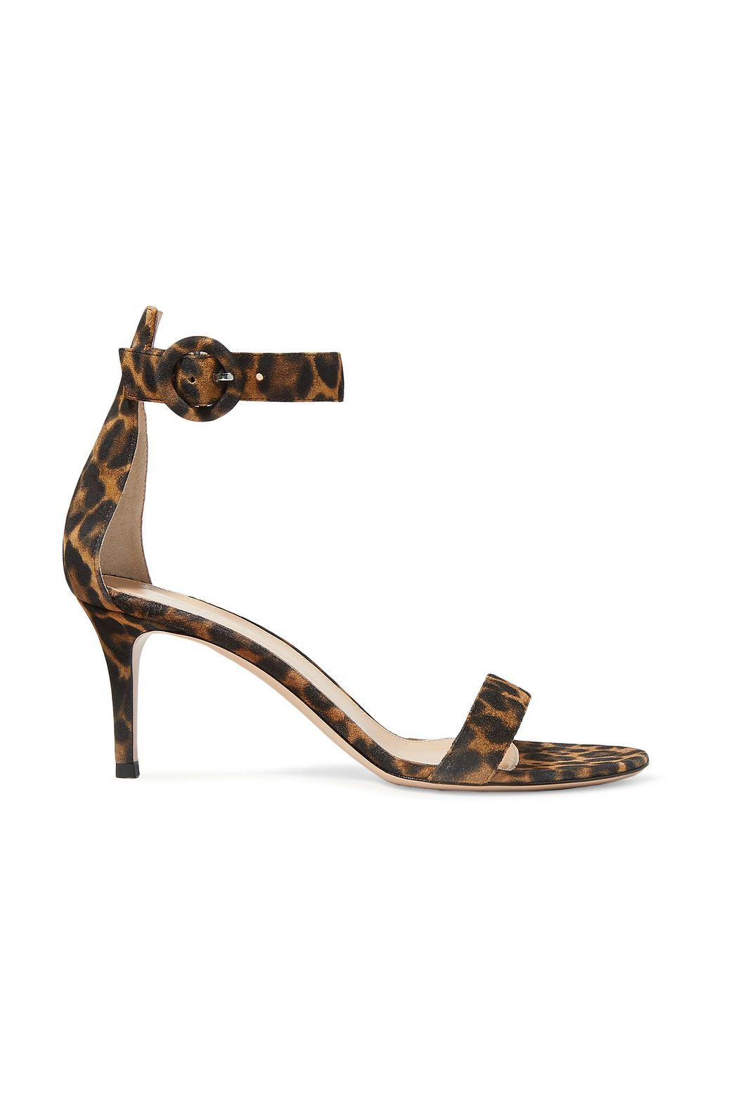 Portofino 70 Leopard Print Suede Sandals Sale Up To 70 Off The Outnet Gianvito Rossi In 2020 Sandals For Sale Suede Sandals Mid Heel Sandals