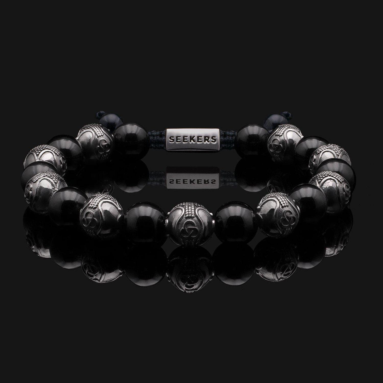 Prestige Onyx Black Bracelet // Gold + Black in 2020 ...