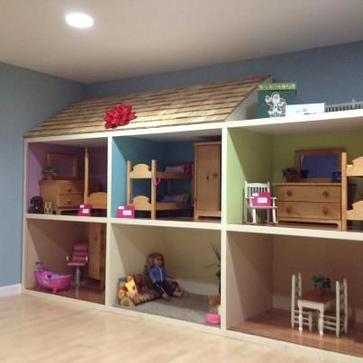 homemade american girl doll house we built! | bucket list