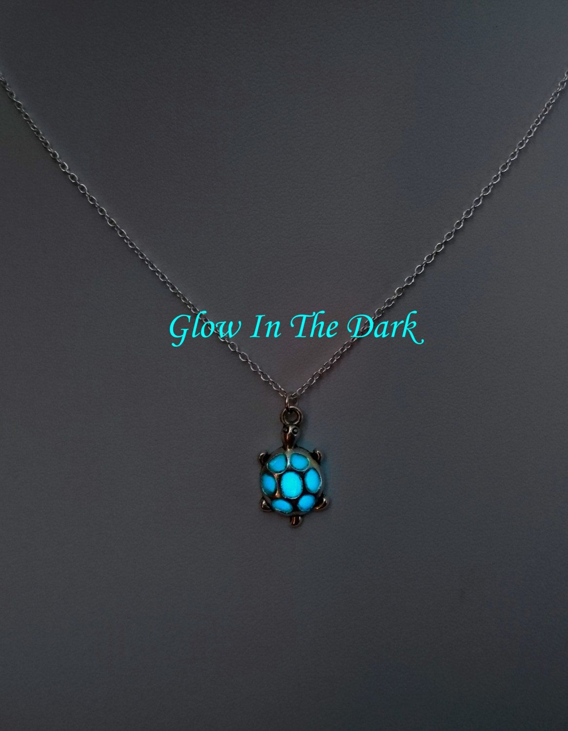 doll glow cabochon product in the necklace glowing pendant steel halloween jewelry stainless dark glass diamond wholesale dome chain