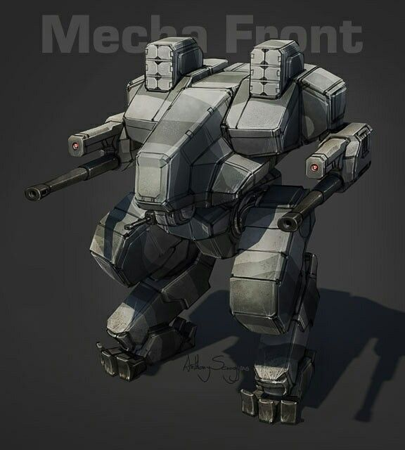 The Blackfrost Heavy Mech from the upcoming table top Mecha Front.