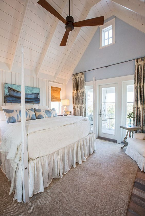 Elegant Home That Abounds With Beach House Decor Ideas: Coastal Bedrooms, House Styles, Luxury Interior Design