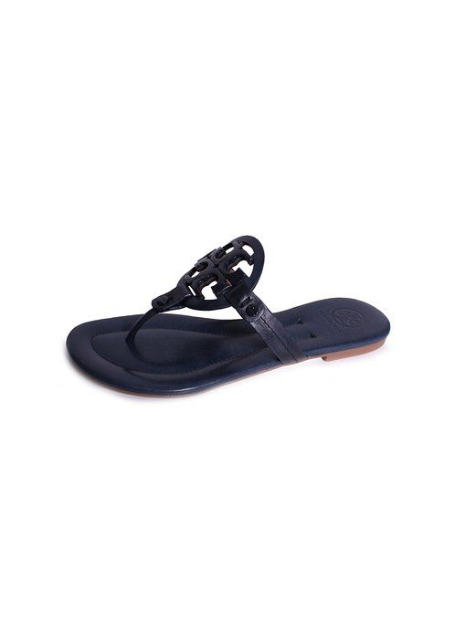 ba85b032623249 Tory Burch Miller 2 Handpainted Thong Sandals in Navy