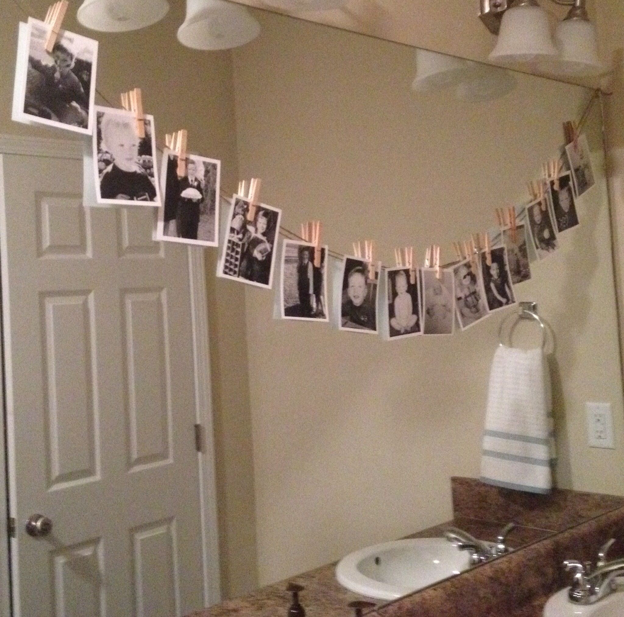 16th Birthday Party Idea-Hang B/W Pictures From Son's Life