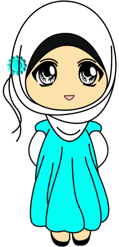 Freebies Doodle muslimah Comel Gambar karakter, Kartun