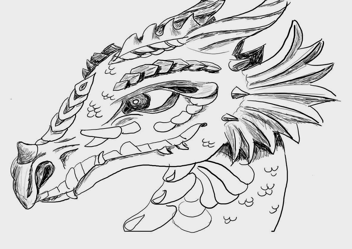 Coloring pages dragons - Dragon Coloring Pages