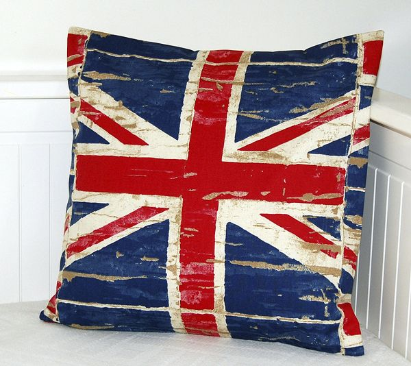 Union Jack Accent Throw Pillow; Always A Nice Touch Great Ideas