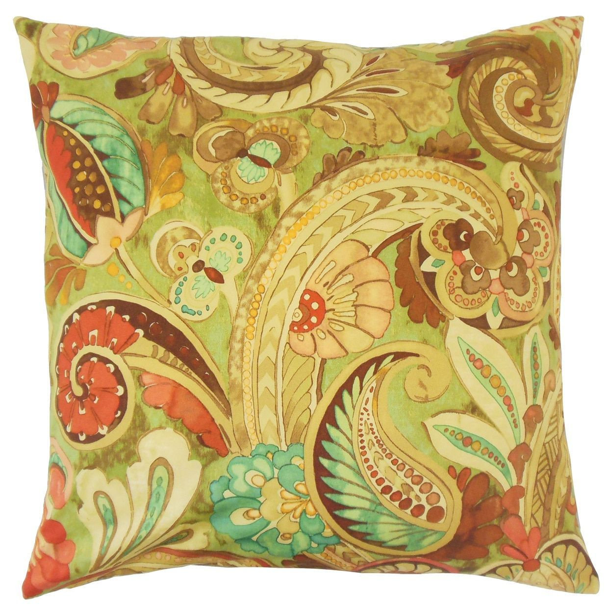 Salihah 18-inch Feather and Down Filled Throw Pillow