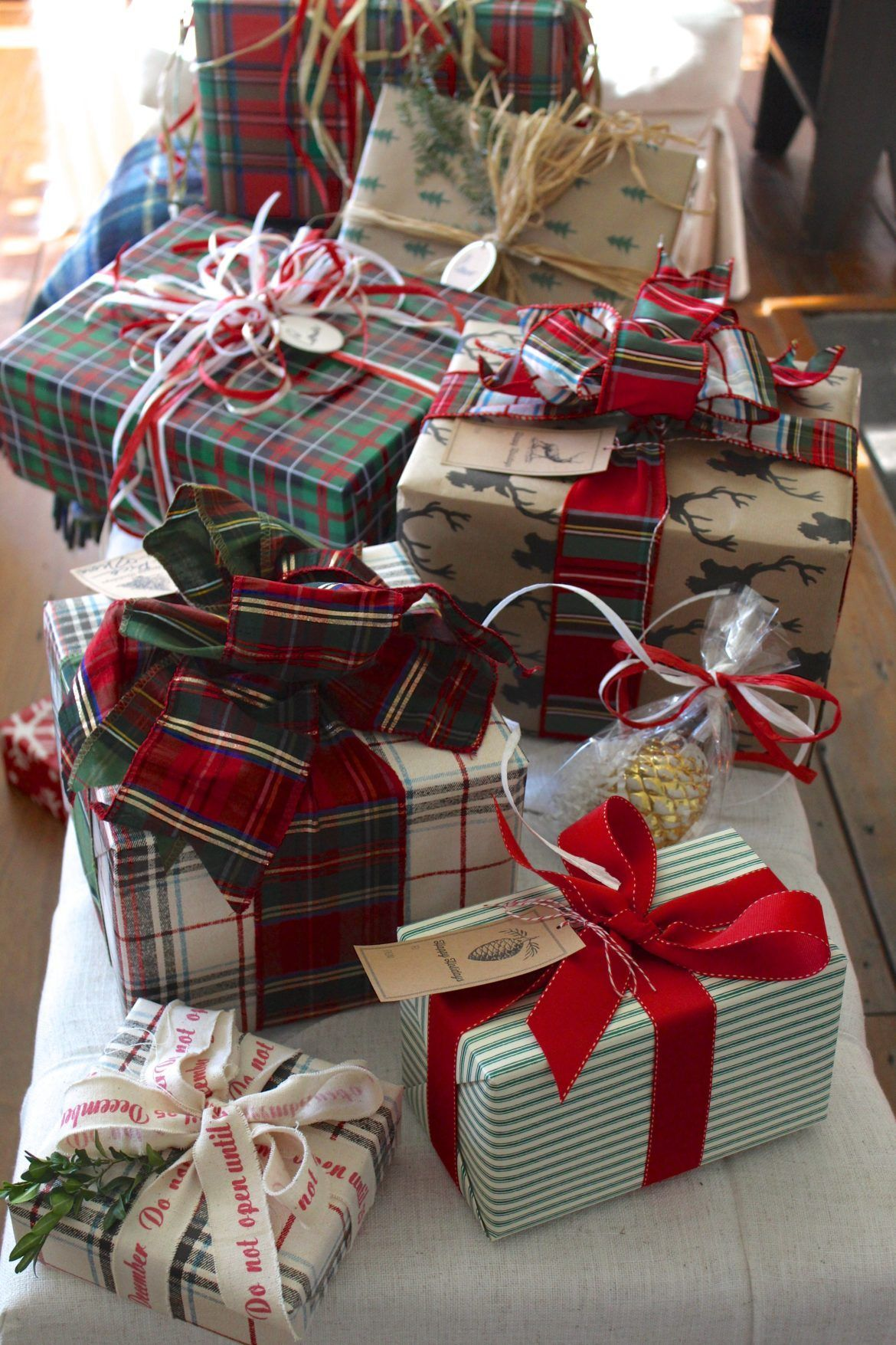 Plain And Fancy Plaids And Stripes Pretty Wrapping Is Like Getting A Gift Twice Kraft Plaid Gift Wrapping Christmas Present Wrap Christmas Gift Wrapping