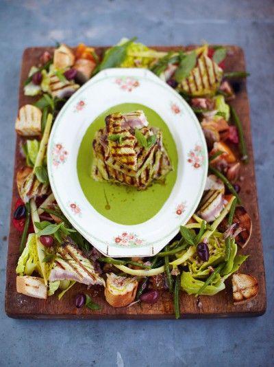 Griddled tuna kinda nioise salad recipe tuna nicoise salad griddled tuna kinda nioise salad jamie oliver 15 minute mealstuna forumfinder Choice Image