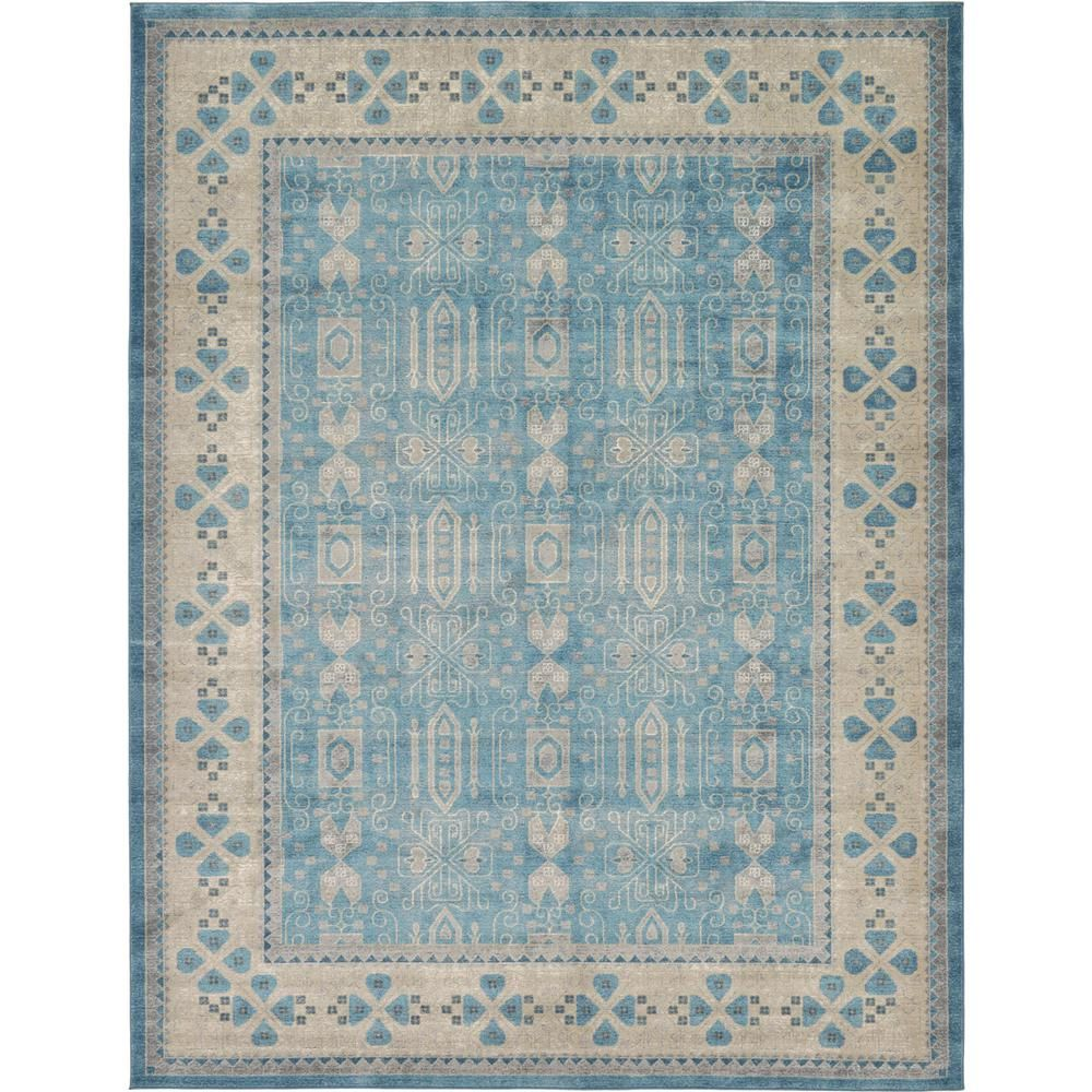 Unique Loom Salzburg Light Blue 9 X 12 Rug In 2018 Products