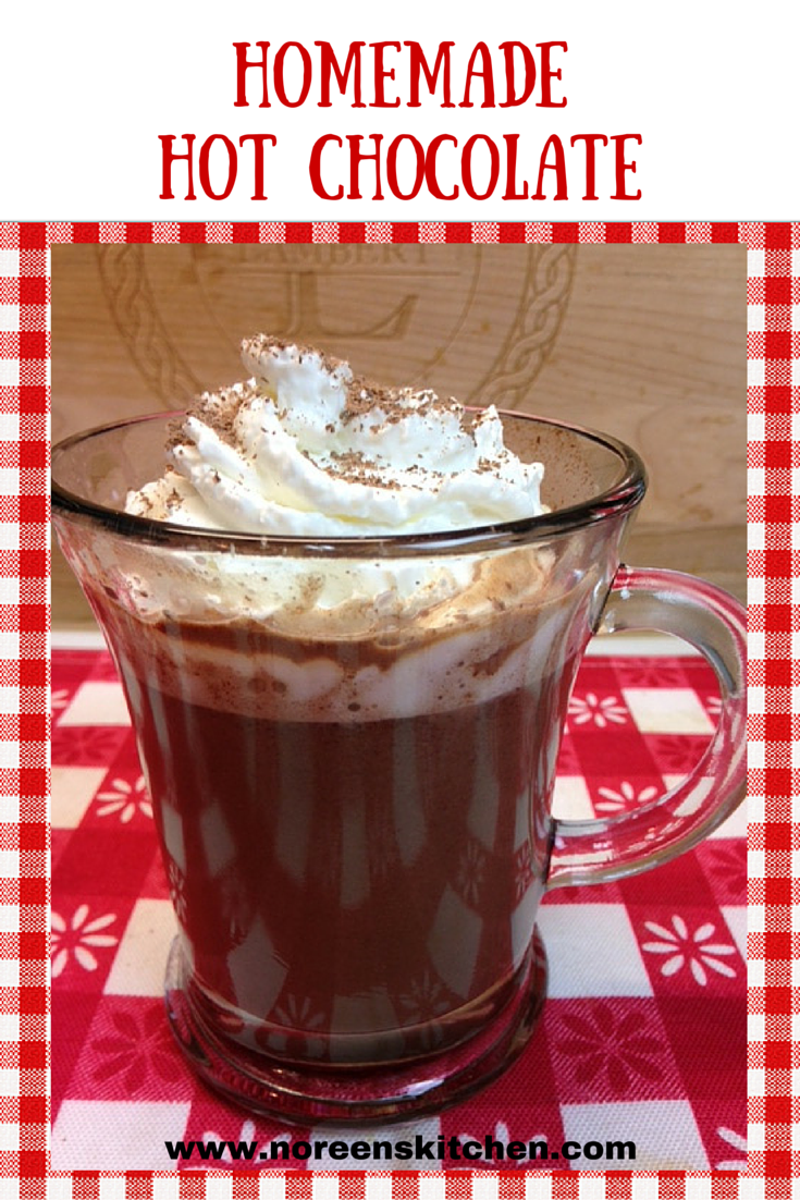 Homemade Hot Chocolate Not Cocoa With Semi Sweet Chips Melted Into A Delicious And Creamy Homemade Hot Chocolate Evaporated Milk Recipes Homemade Hot Cocoa