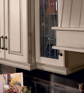 Inset Light Rail Shown with Varied Depth of Wall Cabinets ...