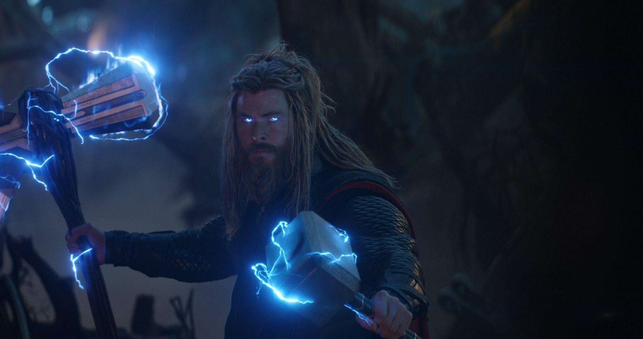 Thor with Stormbreaker and Moljneir   Avengers, Marvel, Marvel avengers funny