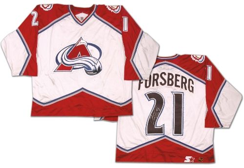 Peter Forsberg 1997-98 Colorado Avalanche Autographed Game Worn Jersey 336ae3a752b