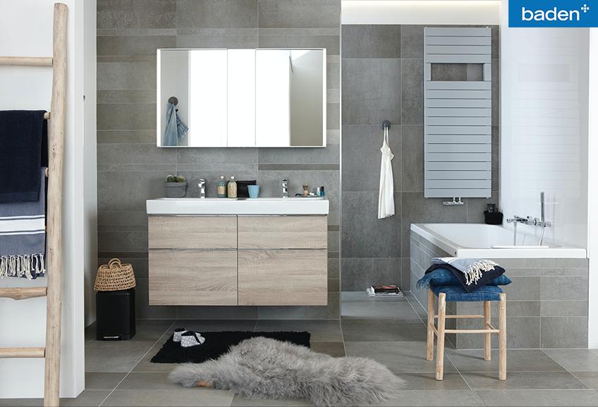 Inloopdouche Met Wasmeubel : De jeans badkamer is een moderne badkamer. voorzien van een ruime