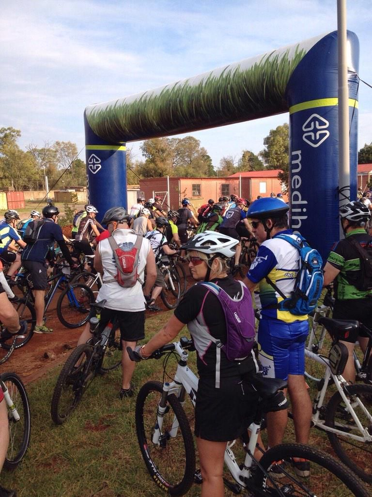 Good luck to all the mountain bikers at the cansa relay