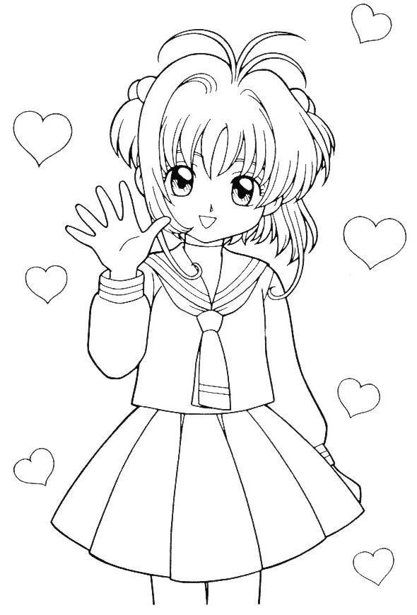 Manga | Desenho Da Sakura Manga #4 para colorir (clique na imagem ...