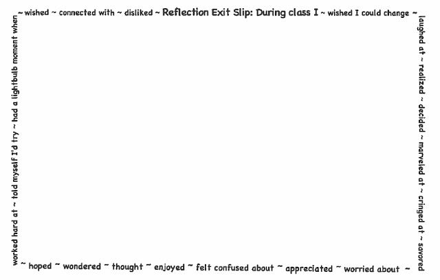 A Reflection Exit Slip
