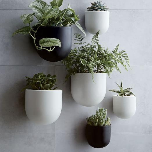 Ceramic Indoor Outdoor Wallscape Planters Wall Planter Planters Ceramic Planters