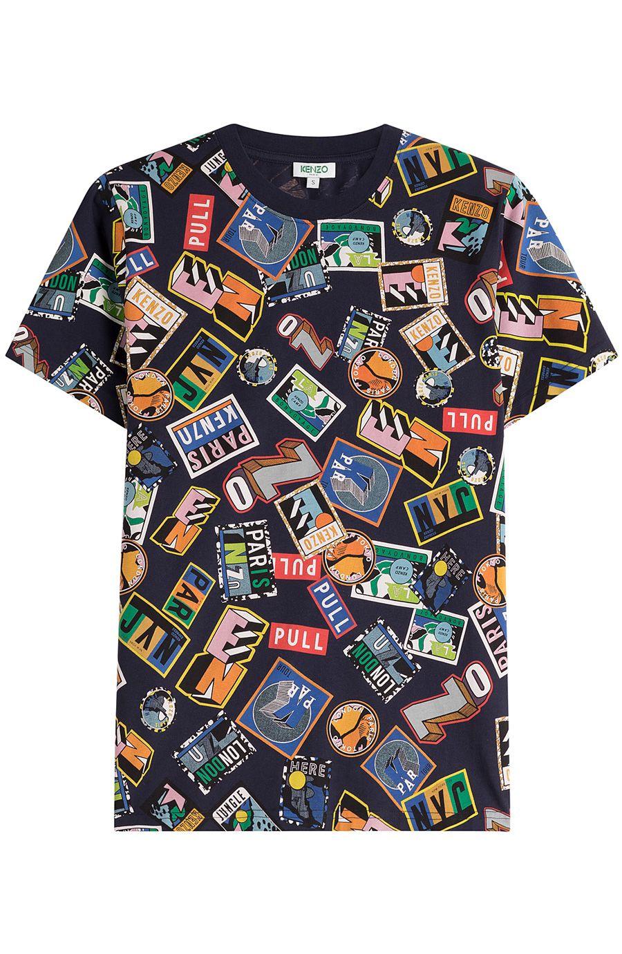 e5e398da KENZO Printed Cotton T-Shirt. #kenzo #cloth #t-shirts   Kenzo Men ...