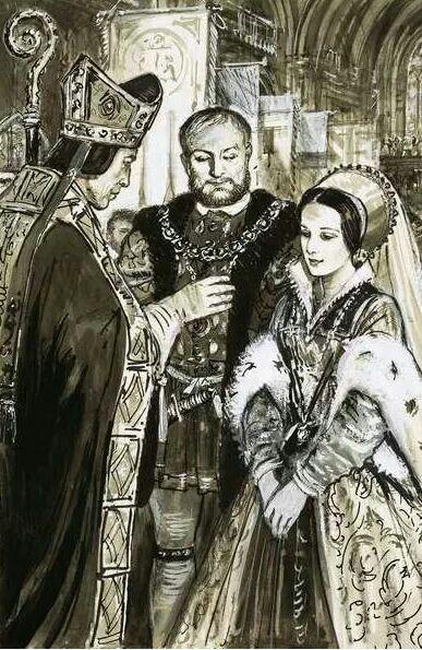 Photo of Henry VIII's and Anne Boleyn's wedding