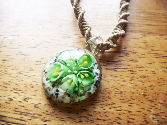 Murano glass pendant hemp necklace natural healing jewelry murano glass pendant hemp necklace mozeypictures
