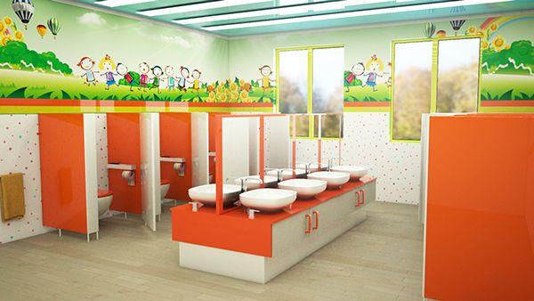 Kindergarten interior design on behance kids dise o for Diseno curricular de jardin maternal