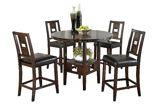 """The Logan Counter Height Dining Room Table with (4) 24"""" Barstools ..."""