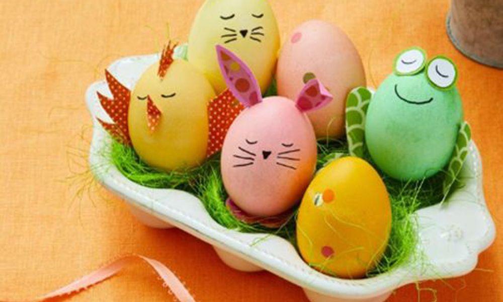 Como Decorar Huevos Para Ninos