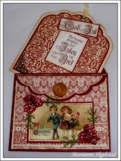 Vintage Pocket Tag Card envie style by Marianne