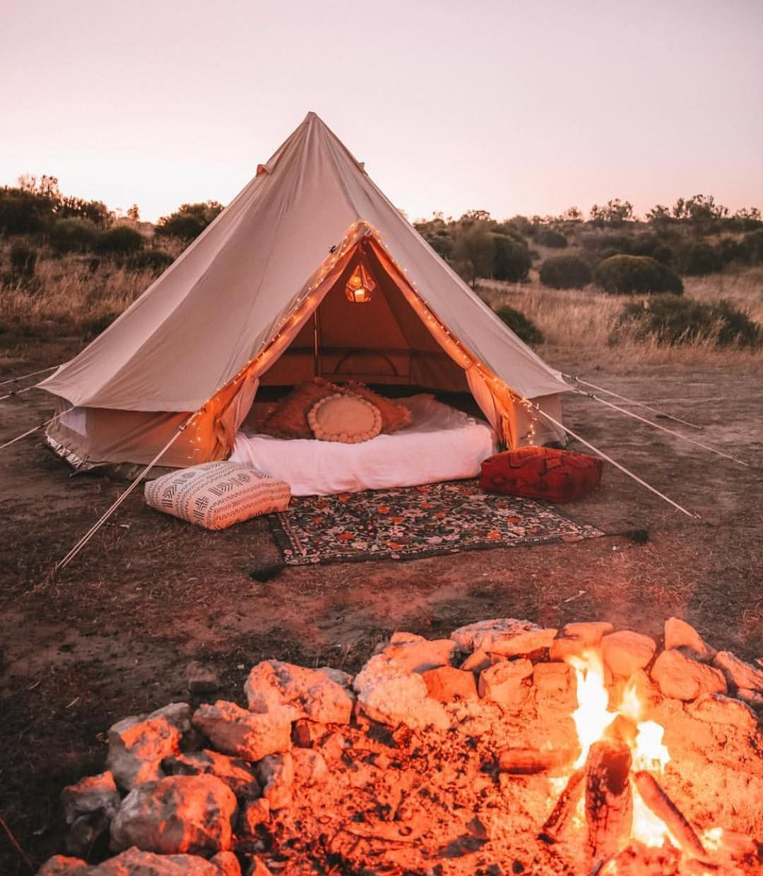 Weekend goals right there | Tent, Bell tent, Romantic camping