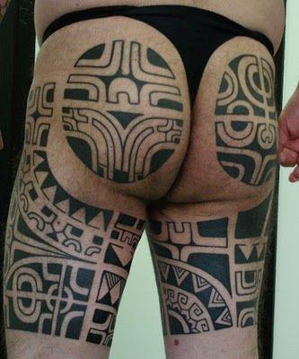 image result for tatouages polynésien fesse homme | tatts | tatouage