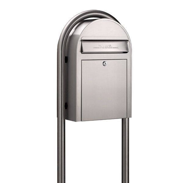 Bobi Mailboxes | USPS Bobi Classic Stainless Steel Front Access Mailbox (Post Sold Separately) | Residential Mailbox