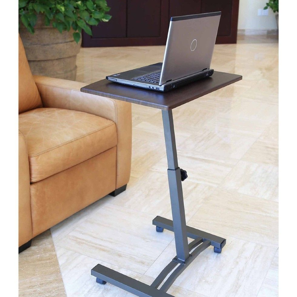 sofa table bed rolling height over notebook angle pin laptop stand adjustable desk