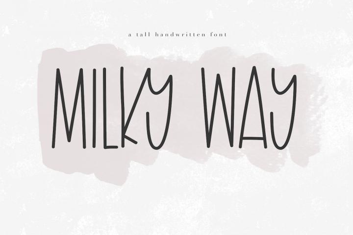 Milky Way A Tall Handwritten Font Pretty fonts, Tall