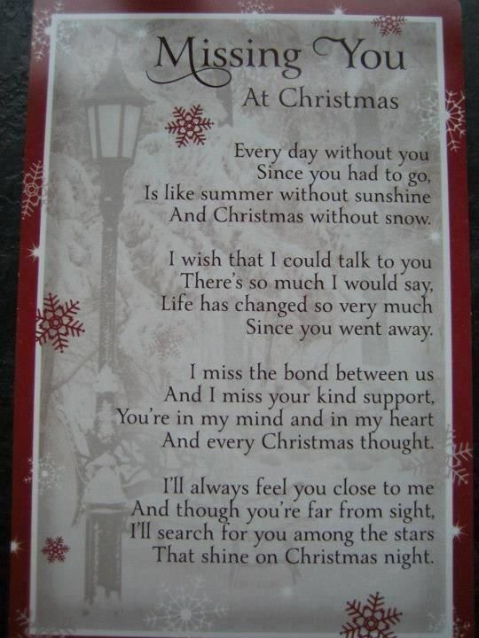 Missing You At Christmas Missing You Christmas Christmas Quotes
