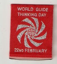 Girl Guides Patch - WORLD GUIDE THINKING DAY