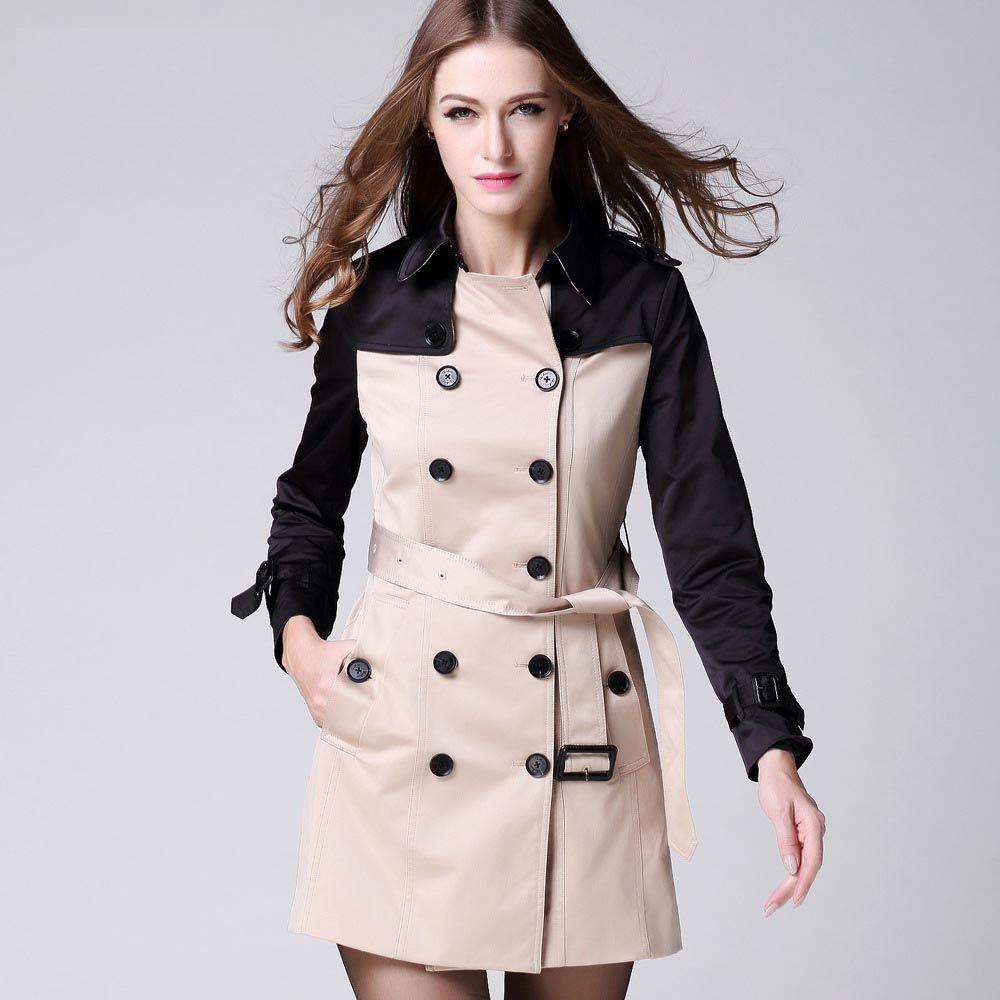 New Autumn Women S Slim Long Trench Coat Women   Fashideas.com ...