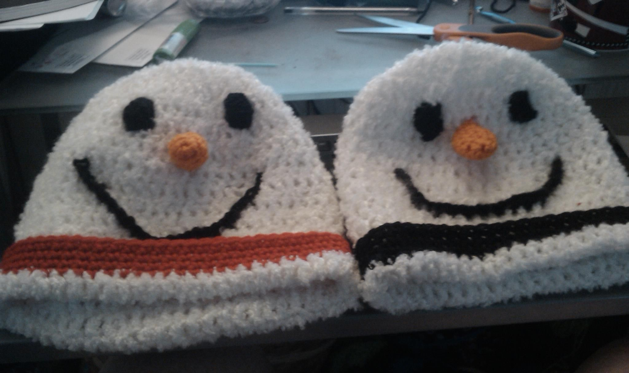 Snowman hats I made for a friend.